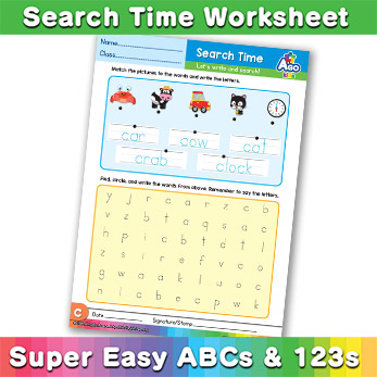 Word Search worksheet c