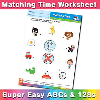 Words that start with C Phonics Matching Time
