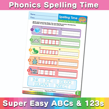 Phonics Spelling Worksheet Letter I