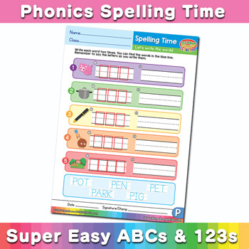 Phonics Spelling Worksheet Letter P