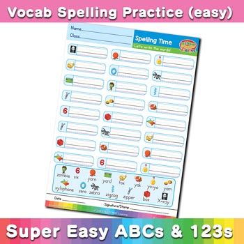free esl spelling worksheet x y z