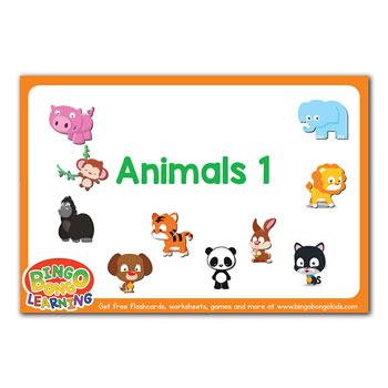 animals flashcards set 1