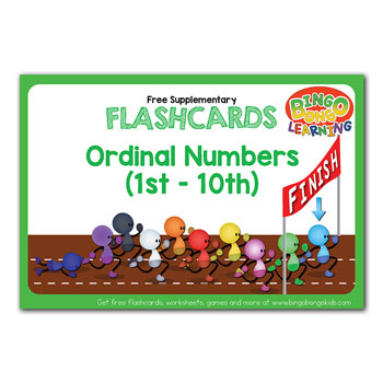 ordinal numbers flashcards