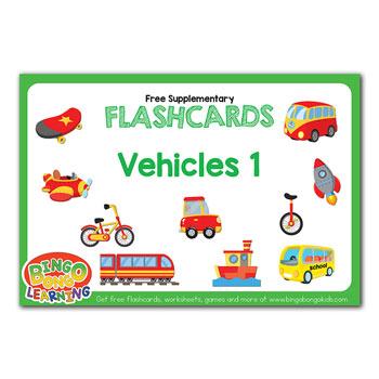 vehicles flashcard set 1