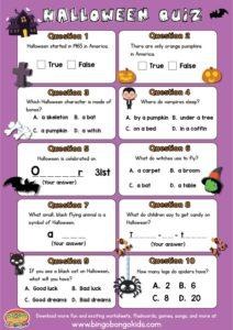 Easy Halloween Quiz