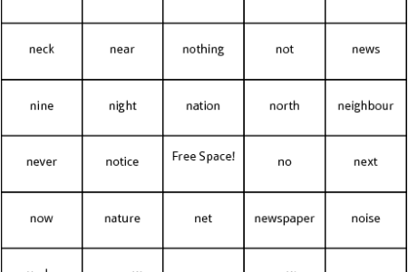 sight word bingo template » 4K Pictures | 4K Pictures [Full HQ ...