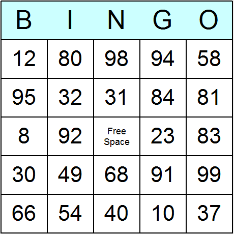 Bingo Template Generator Bridal Card We Ve Taken The Classic Game