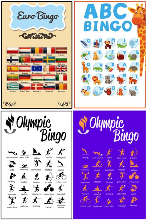 Educational Bingo Cards And Bingo Templates