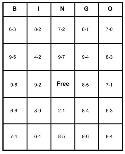 Math Bingo Free Cards Learn How To Play Amp Print For Free