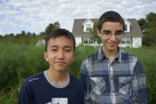Ridhwan and cousin Timmy
