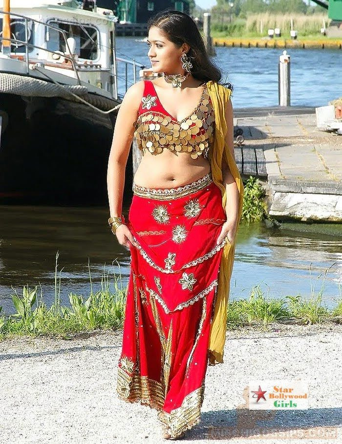 Actress-Meghana-Raj-Spicy-Navel-Show-Photos-4