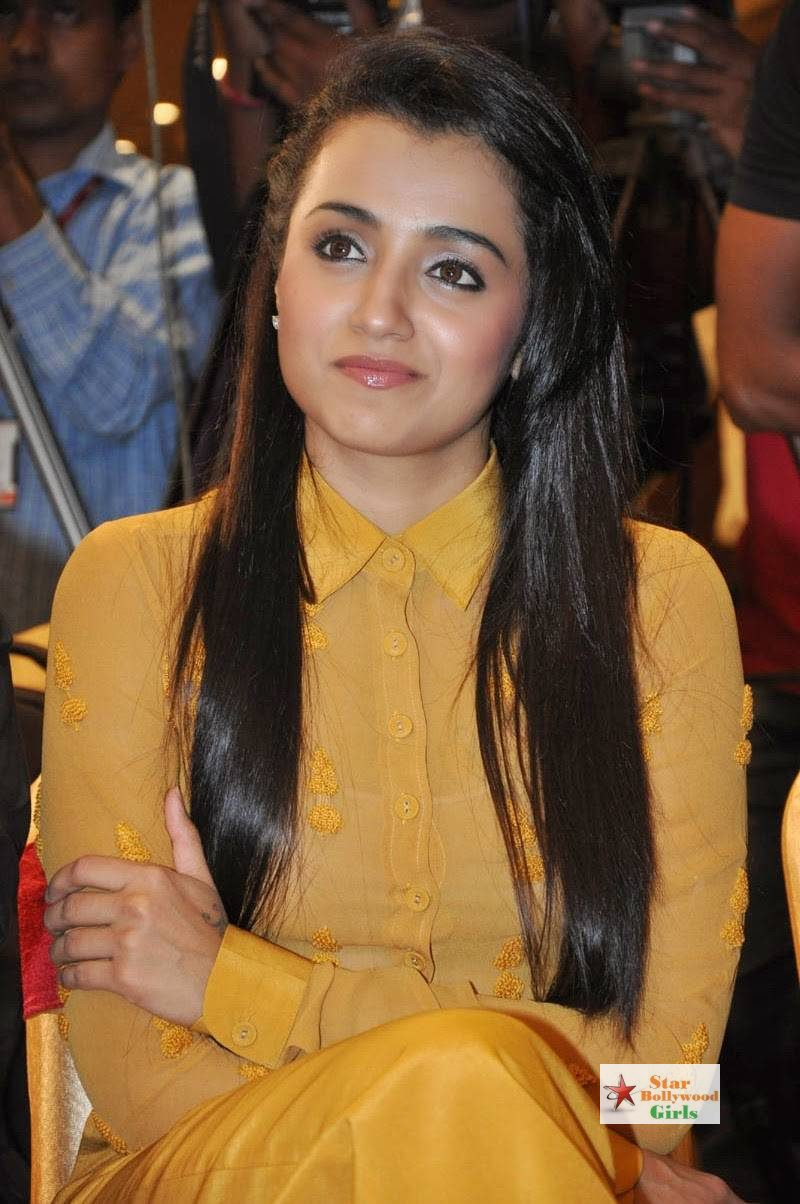 Trisha-Stills-At-Cheekati-Rajyam-Movie-First-Look-Launch-11