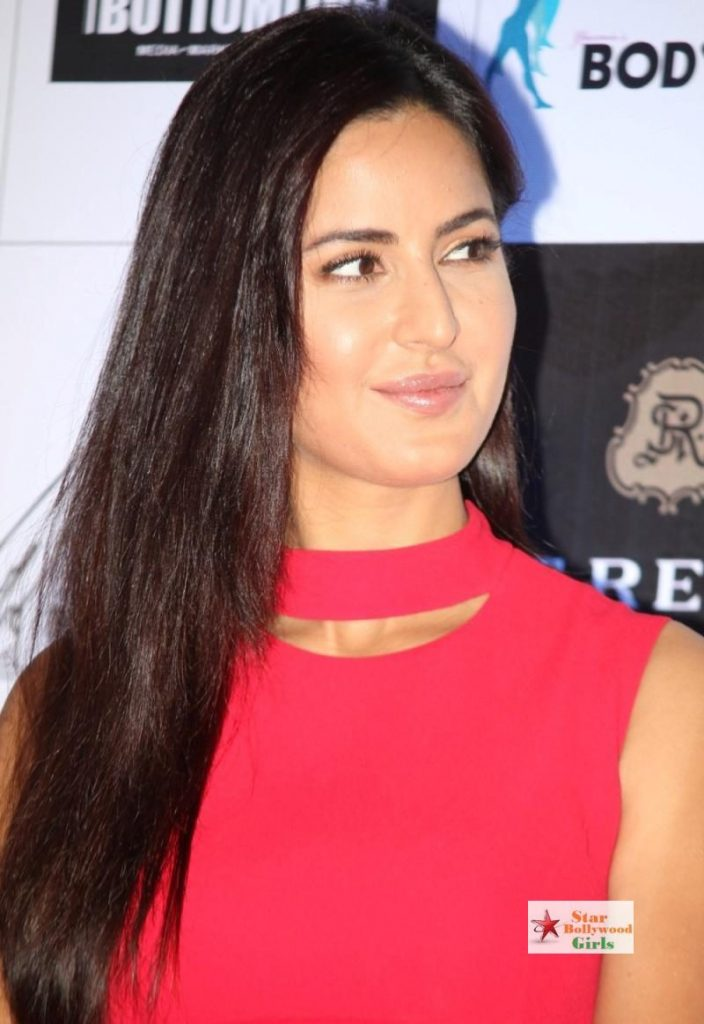 Katrina Kaif Showcasing Her Sexy Long Legs In a Red Short Dress At Yasmin Karachiwals Sculpt and Shape The Pilates Way Book Launch In Palladium9