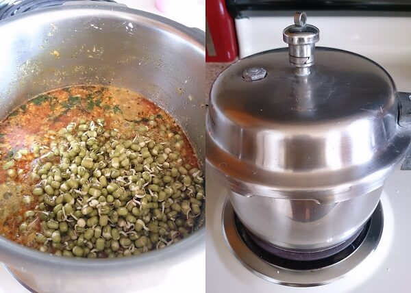 Sprouted Moong Curry 4