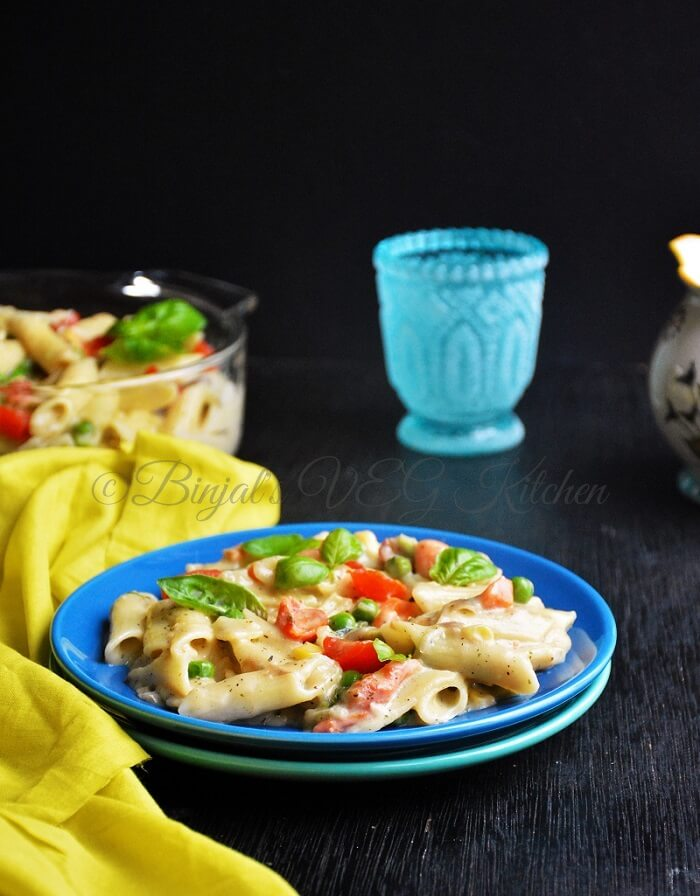 Vegetable Pasta White Sauce