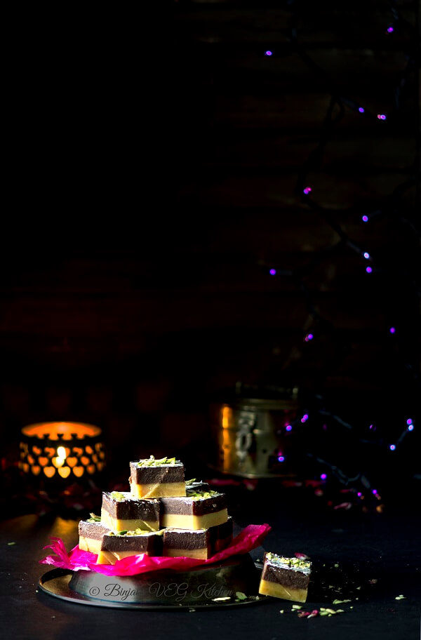 Chocolate Burfi Photography