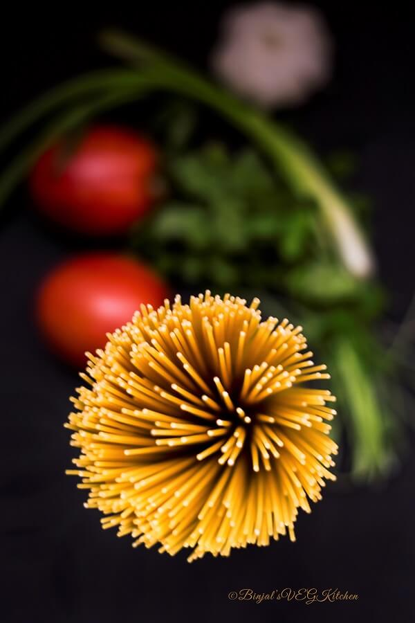 Quick One Pot Spaghetti Photography