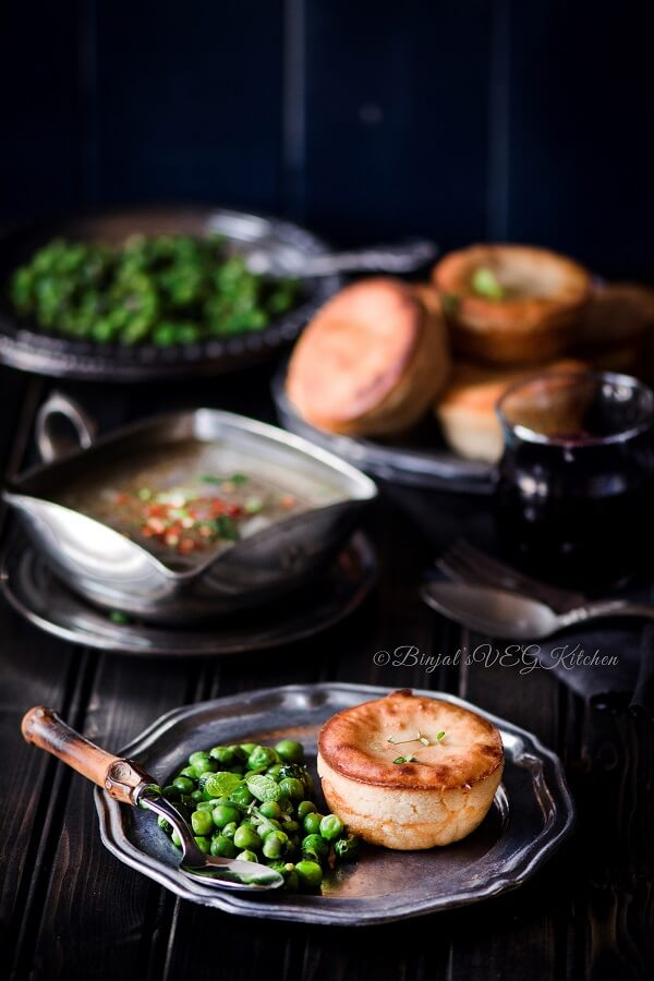 Eggless Yorkshire Pudding Photography