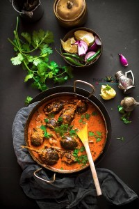 Hyderabadi Bagara Baingan (Baby Eggplant Curry)