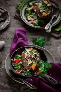 Veggie Stuffed Potatoes Recipe (Baked)