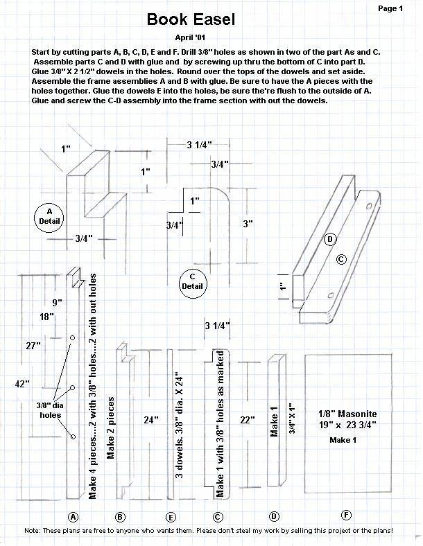 wood easel plans free
