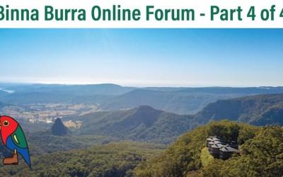 Binna Burra Stakeholders Online Forum 4 of 4