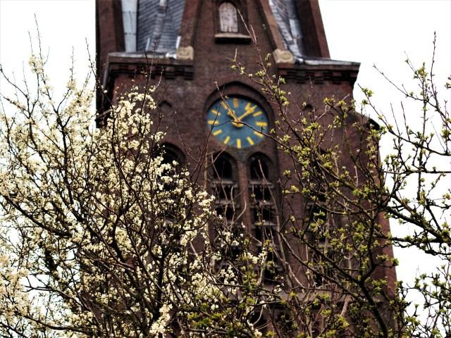 Beemster in Beeld - Klok van de Johannes de doper met bloesemboom