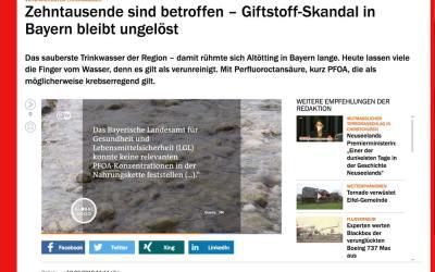 Handelsblatt – verunreinigtes Trinkwasser im Landkreis Altötting
