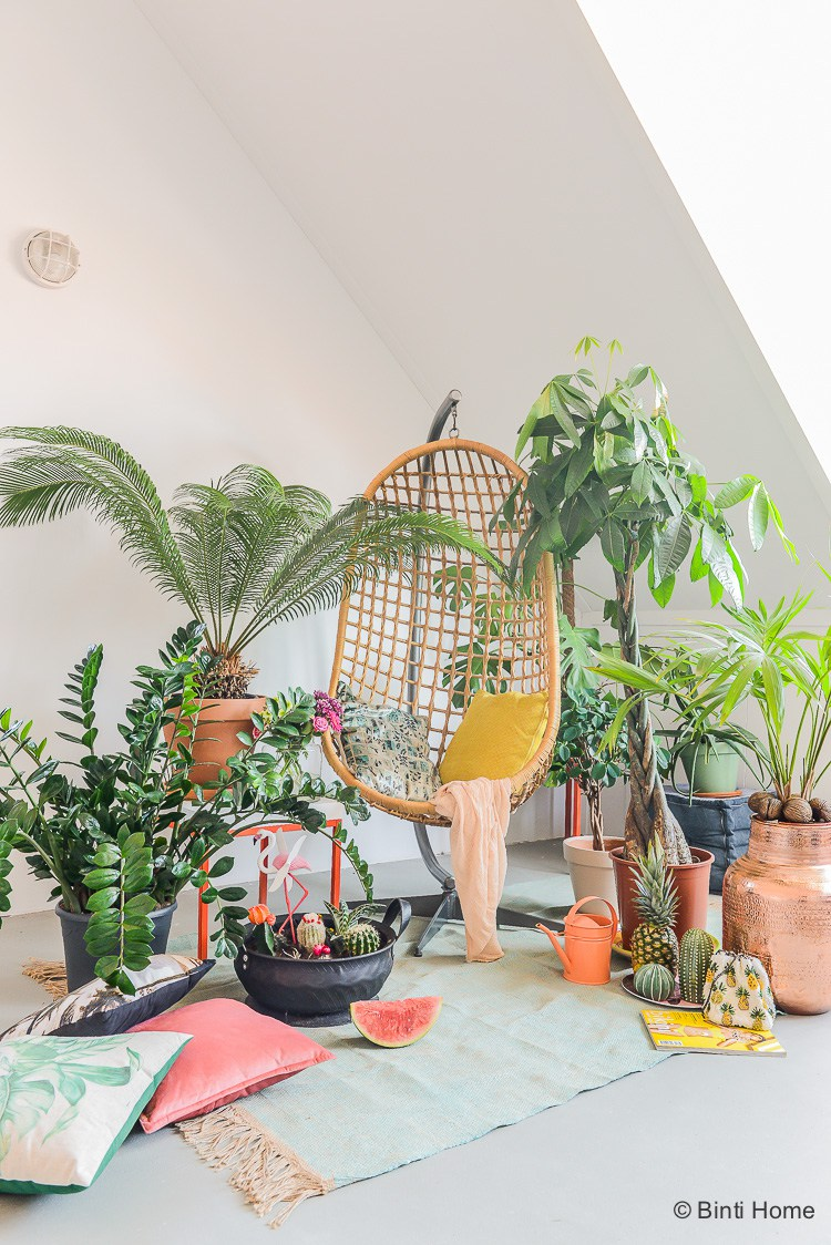 Hangstoel rotan Tropicool zomer thema met Urban Jungle Bloggers ©BintiHome