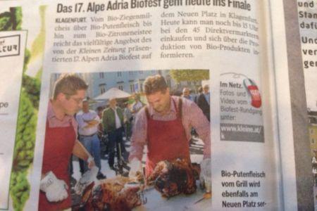 Anlässlich des Alpen Adria Biofestes wurde Bio-Moritsch zum Putenkaiser gekührt.
