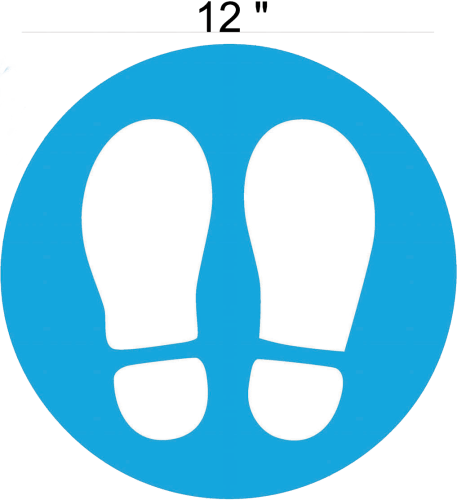 Social Distancing Floor Decal - Footprints Image
