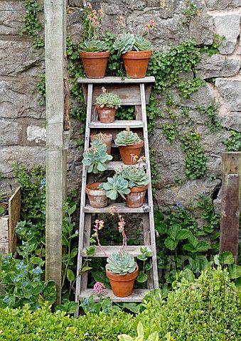 jardin ou sa terrasse avec des objets