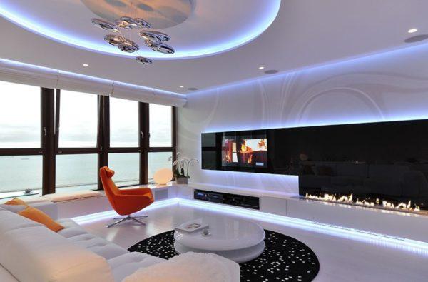 meuble bas tv cheminee bioartconcept