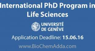 International PhD Program Life Sciences at University of Geneva | BioChem Adda