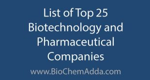 List of top 25 biotechnology and pharmaceutical companies: Here, Biochem Adda team have listed top independent biotechnology and pharmaceutical companies around the globe.
