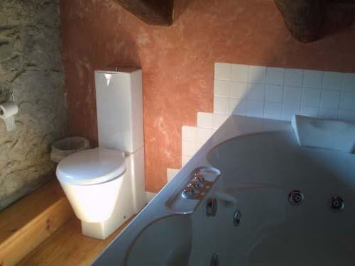 WC e hidromasaje sobre piedra y madera