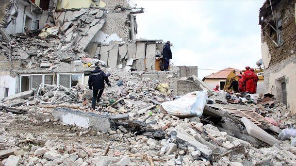 Imagen de la destrucción provocada por un terremoto en Albania