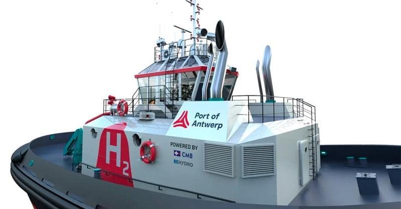 Bélgica: El Puerto de Amberes tendrá primer remolcador impulsado por hidrógeno