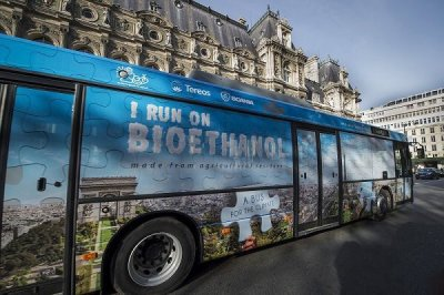 Un bus Scania - Tereos à l'ED95 pour la COP21