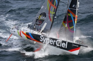 SAILING - ROUND THE WORLD RACE - VENDEE GLOBE 2012/2013 - START - LES SABLES D'OLONNE (FRA) - 10/11/2012 - PHOTO JEAN MARIE LIOT / DPPI -JEAN LE CAM (FRA) / SYNERCIEL -