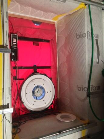 Test étanchéité d'un chantier BBC Biofib