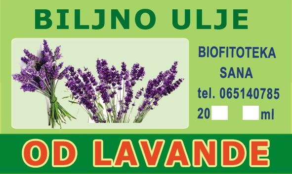 etiketa Biljno ulje od Lavande