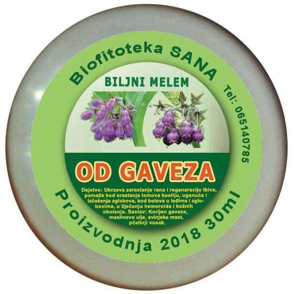 Biljni melem od Gaveza