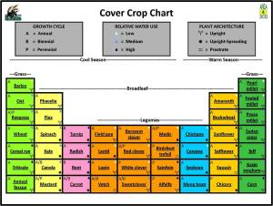 Periodic Table of Cover crops, developed by USDA-ARS NGPRL. Click for a PDF.