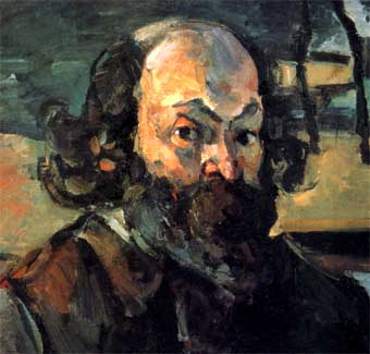 Detalle de un Autorretrato de Paul Cézanne (c.1875)