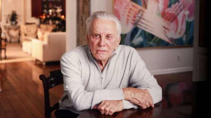 Kirk Douglas in his Beverly Hills home in March 2003