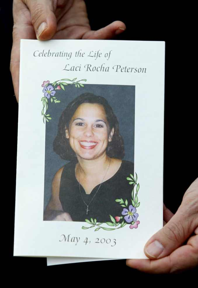 The program for the memorial service for Laci Peterson and her unborn son, Conner, held on May 4, 2003