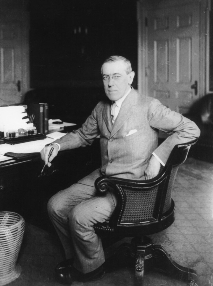 28th President Of The United States Woodrow Wilson