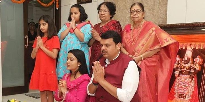 Devendra Fadnavis Family