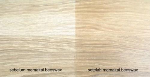 aplikasi beeswax pada kayu